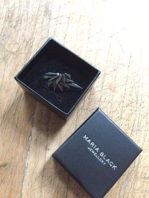 Maria Black Wing und Wing Reverse Earjacket Ohrring Silber Schwarz