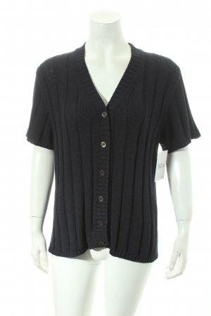 Maria di Ripabianca Short Sleeve Knitted Jacket dark blue simple style