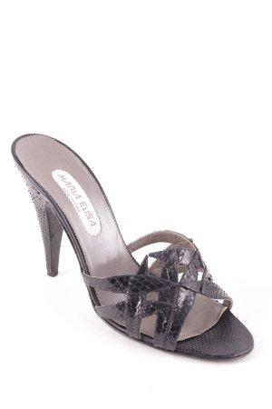 Maria Elisa Sandalias de tacón alto negro estilo extravagante