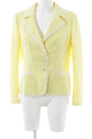 Maria Grazia Severi Tweedblazer blassgelb Business-Look