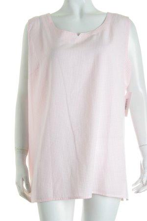 Maria Reich Longtop weiß-rosa Karomuster schlichter Stil