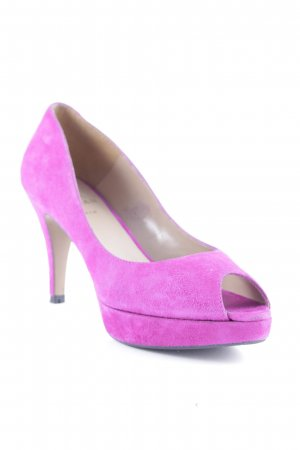 Marian Peeptoe Pumps violett Party-Look
