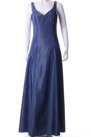 Marie Blanc Abendkleid anthrazit-stahlblau Elegant
