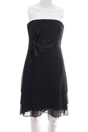 Marie Blanc Vestido bandeau negro estilo fiesta