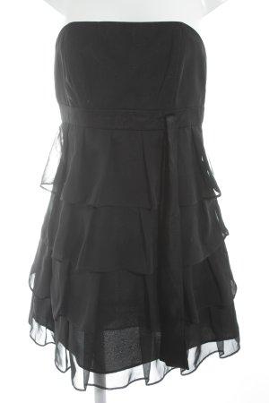 Marie Blanc Vestido bustier negro elegante