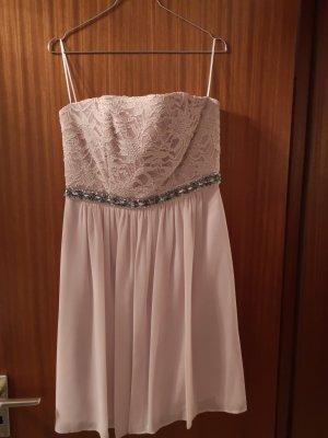 Marie Blanc Off-The-Shoulder Dress dusky pink-pink