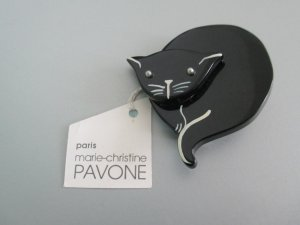 Marie-Christine Pavone#Black Cat#Vintage