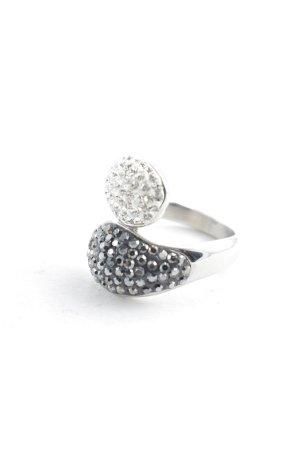 Marie-L Zilveren ring grijs-zilver glitter-achtig