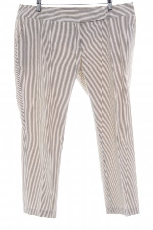 Marie Lund 7/8 Length Trousers natural white-grey brown striped pattern