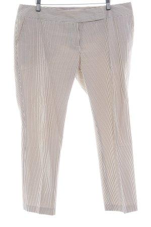 Marie Lund 7/8-Hose wollweiß-graubraun Streifenmuster 30ies-Stil