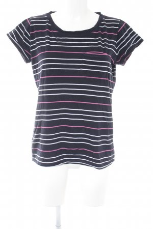 Marie Lund Basic Top pink-dunkelblau Ringelmuster Casual-Look