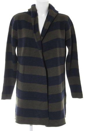 Marie Lund Cardigan dunkelblau-dunkelgrün Streifenmuster Casual-Look