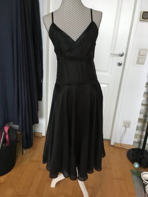 Marie Lund A-lijn jurk zwart Zijde