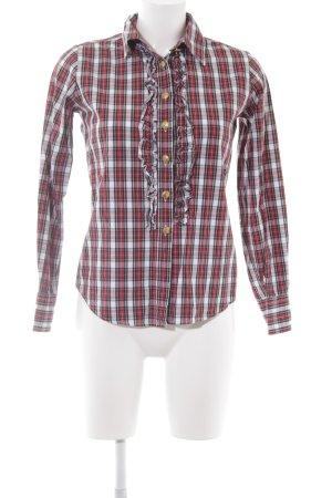 Marie Lund Geruite blouse geruite print casual uitstraling