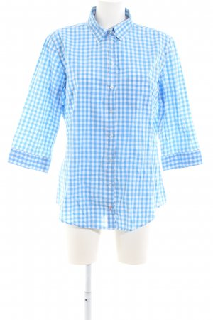 Marie Lund Checked Blouse white-blue check pattern business style