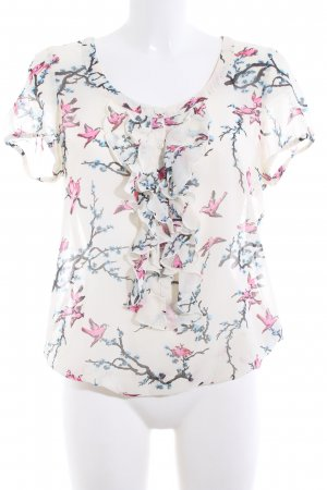 Marie Lund Kurzarm-Bluse Blumenmuster Casual-Look