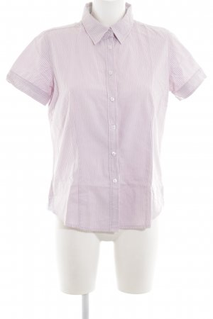 Marie Lund Short Sleeve Shirt pink-white striped pattern business style