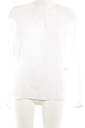 Marie Lund Blusa de manga larga blanco elegante