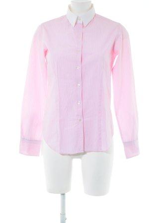 Marie Lund Langarmhemd pink Streifenmuster Business-Look