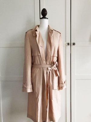 Marie Lund Mantel rosa rosé Trenchcoat Jacke Größe M 40
