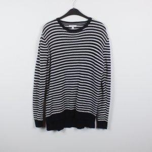 Marie Lund Pullover Gr. XL schwarz weiß gestreift (18/12/026)