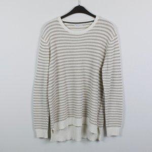 Marie Lund Pullover Gr. XL weiß/beige gestreift (19/02/111)