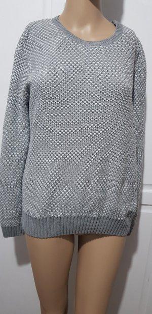 Marie Lund Oversized trui wit-grijs