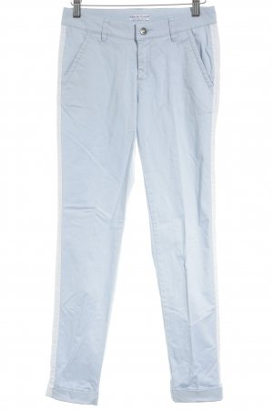Marie Lund Drainpipe Trousers white-baby blue casual look