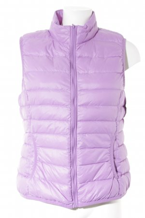 Marie Lund Quilted Gilet violet quilting pattern casual look