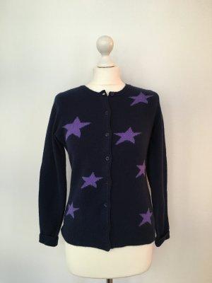 MARIE LUND Strickjacke mit Sternen, Gr. S, 1x getragen