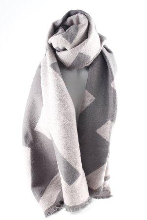 Marie Lund Écharpe en tricot gris-vieux rose Motif de tissage