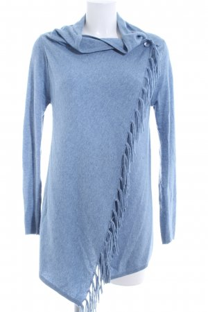 Marie Lund Knitted Wrap Cardigan blue flecked casual look