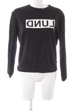 Marie Lund Sweatshirt schwarz-weiß sportlicher Stil