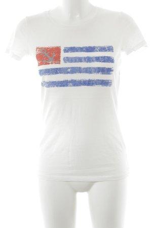 Marie Lund T-Shirt Motivdruck sportlicher Stil
