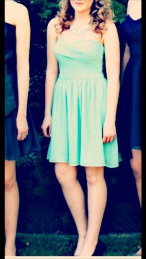 Marie Lund Vestido strapless azul claro-turquesa