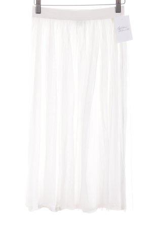 Marie Lund Jupe en tulle blanc style romantique