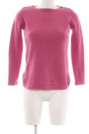 Marie Lund Jersey de lana rosa look casual