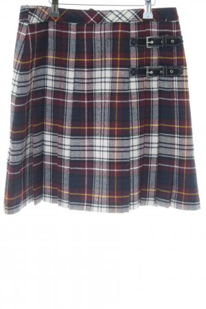 Marie Lund Wool Skirt check pattern casual look