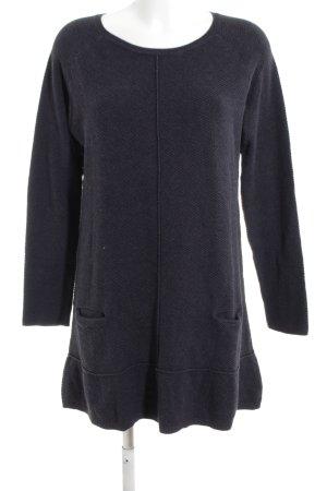 Marie Sixtine Robe pull noir imprimé allover style décontracté