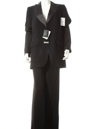 Mariella Burani Tailleur pantalone nero stile classico