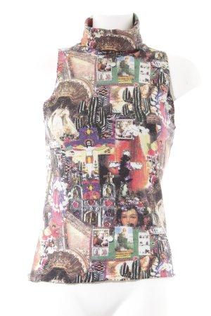 Mariella Burani Top con colletto arrotolato Stampa a tema stile stravagante