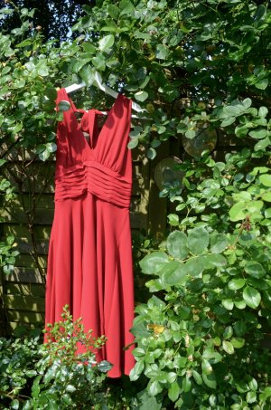 Marilyn Monroe Kleid in leuchtendem Rot