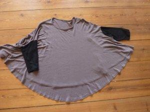 marimekko: Fledermaus-Shirt, braun/ schwarz, Gr. s/ Top, Oberteil