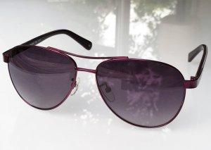 * MARIMEKKO * NEU ! PILOTEN SONNENBRILLE violett lila metall glänzend