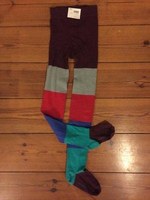 marimekko: Strumphose, gestreift, Gr. s, rot-grün-blau