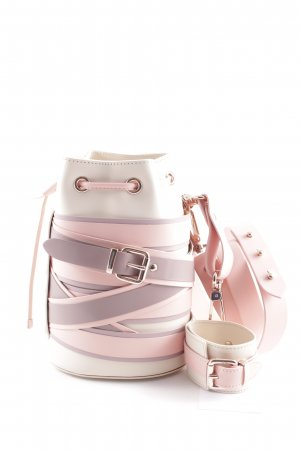 "Marina Hoermanseder Bolso tipo marsupio ""Kasper Stripes Lili Bucket Bag Light Lilac"""