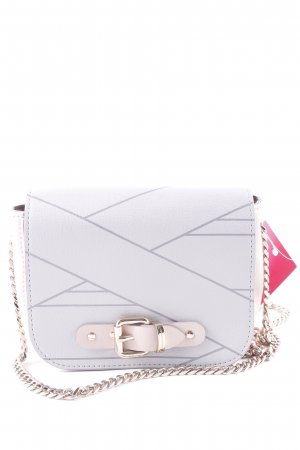 Marina Hoermanseder Mini sac gris clair-vieux rose motif graphique élégant