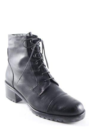 Marina Muraro Bottes à lacets noir style décontracté