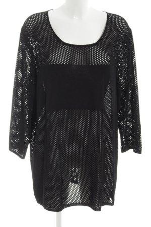 Marina Rinaldi Netshirt zwart straat-mode uitstraling