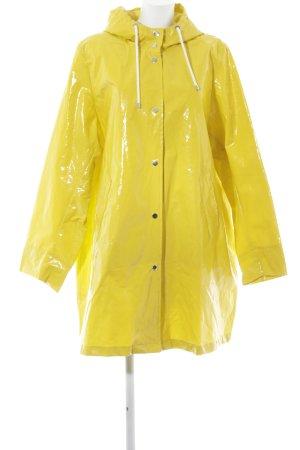 Marina Rinaldi Manteau de pluie jaune citron vert style mode des rues